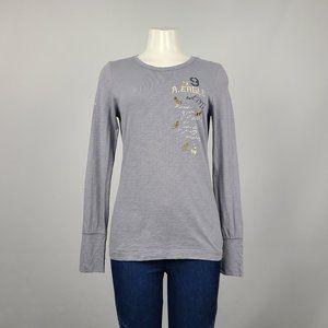 AEO Grey Long Sleeve T-Shirt Size M